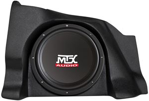 Picture of Chevrolet Silverado Extended Cab Amplified 10 inch 200W RMS Vehicle Specific Custom Subwoofer Enclosure