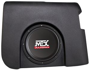 Picture of Chevrolet Silverado Crew Cab Loaded 10 inch 200W RMS 4 Ohm Vehicle Specific Custom Subwoofer Enclosure