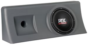 Picture of Chevrolet Silverado Crew Cab Loaded 10 inch 200W RMS Vehicle Specific Custom Subwoofer Enclosure