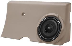 Picture of Ford F-250/F-350 Super Crew Amplified 10 inch 200W RMS Vehicle Specific Custom Subwoofer Enclosure