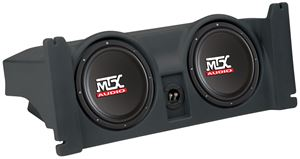 Picture of Jeep Wrangler TJ Loaded Dual 10 inch 400W RMS Vehicle Specific Custom Subwoofer Subwoofer Enclosure