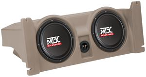 Picture of Jeep Wrangler TJ Loaded Dual 10 inch 4Ω 400W RMS 4 Ohm Vehicle Specific Custom Subwoofer Enclosure