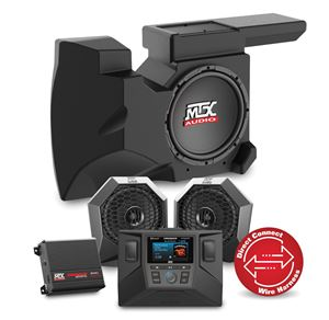 Picture of Two Speaker, Dual Amplifier, and Single Subwoofer Polaris RZR Audio System