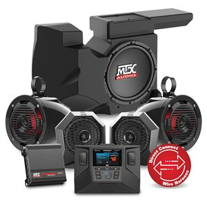 Picture of Four Speaker, Dual Amplifier, and Single Subwoofer Polaris RZR Audio System