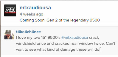 MTX Instagram Comment MTX 9500s cracked windsheild