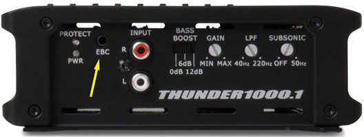 MTX Thunder Amplifier Back