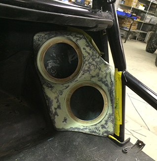 Kickpanel Fiberglassed